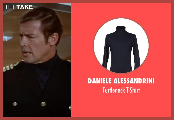 Daniele Alessandrini blue t-shirt from The Spy Who Loved Me seen with Roger Moore (James Bond)