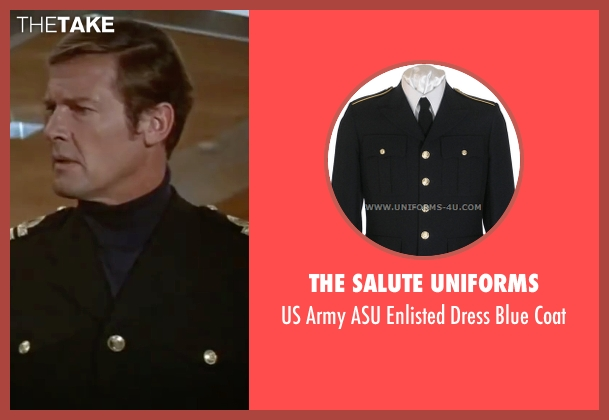 The Salute Uniforms coat from The Spy Who Loved Me seen with Roger Moore (James Bond)