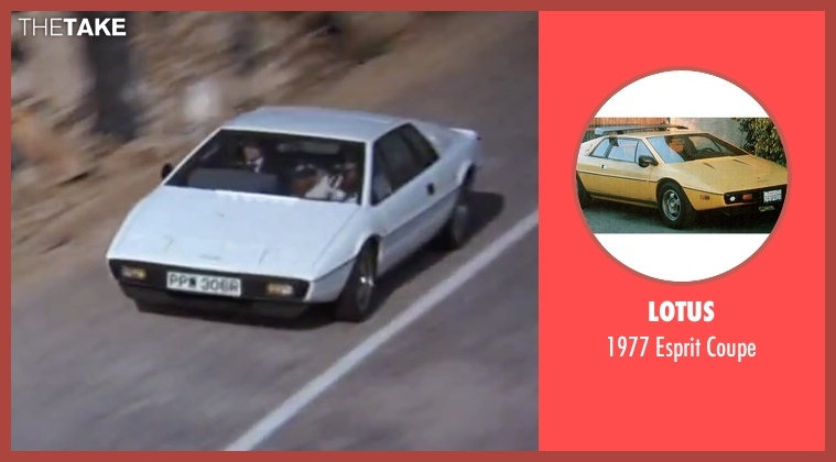 Lotus coupe from The Spy Who Loved Me seen with Roger Moore (James Bond)