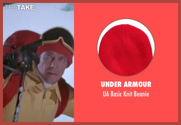 Under Armour red beanie from The Spy Who Loved Me seen with Roger Moore (James Bond)