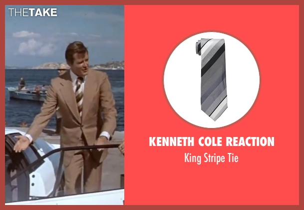 Kenneth Cole Reaction tie from The Spy Who Loved Me seen with Roger Moore (James Bond)