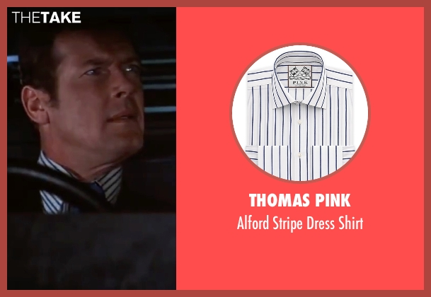 Thomas Pink white shirt from The Spy Who Loved Me seen with Roger Moore (James Bond)