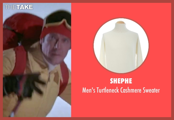 Shephe white sweater from The Spy Who Loved Me seen with Roger Moore (James Bond)
