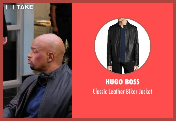 Hugo Boss black jacket from Lethal Weapon seen with Roger Murtaugh (Damon Wayans)