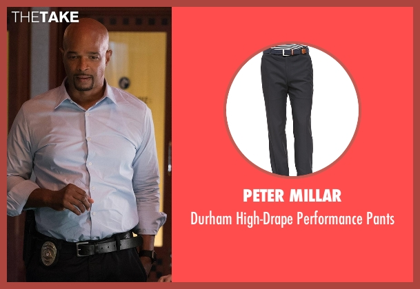 Peter Millar black pants from Lethal Weapon seen with Roger Murtaugh (Damon Wayans)