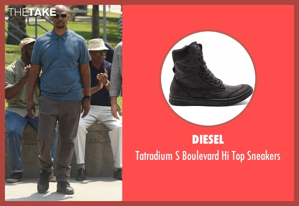 Diesel black sneakers from Lethal Weapon seen with Roger Murtaugh (Damon Wayans)