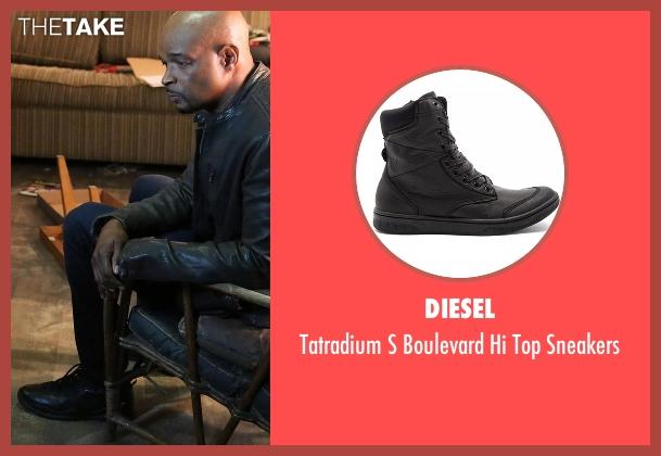 Diesel black sneakers from Lethal Weapon seen with Roger Murtaugh (Damon Wayans)
