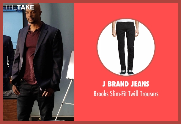 J Brand Jeans black trousers from Lethal Weapon seen with Roger Murtaugh (Damon Wayans)