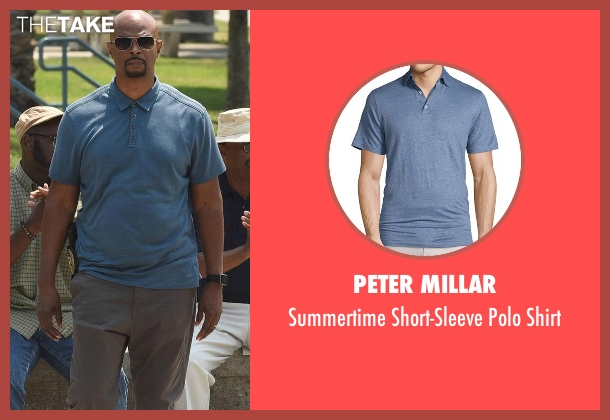 Peter Millar blue shirt from Lethal Weapon seen with Roger Murtaugh (Damon Wayans)