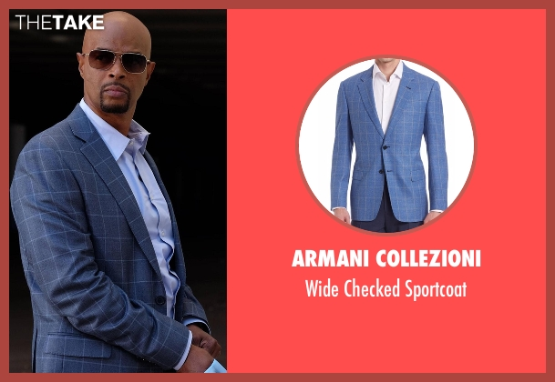 Armani Collezioni blue sportcoat from Lethal Weapon seen with Roger Murtaugh (Damon Wayans)