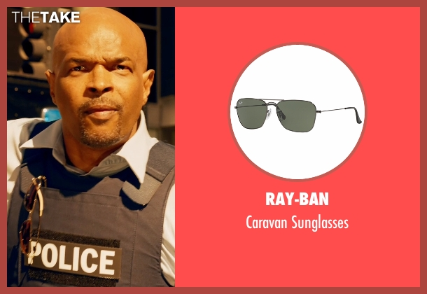 Ray-Ban gold sunglasses from Lethal Weapon seen with Roger Murtaugh (Damon Wayans)