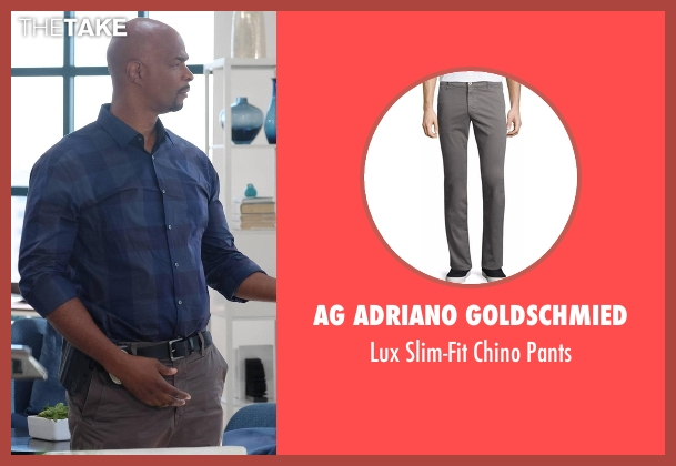 AG Adriano Goldschmied gray pants from Lethal Weapon seen with Roger Murtaugh (Damon Wayans)