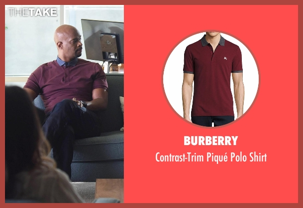 Burberry  red shirt from Lethal Weapon seen with Roger Murtaugh (Damon Wayans)