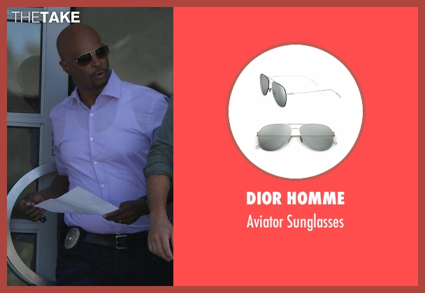 Dior Homme silver sunglasses from Lethal Weapon seen with Roger Murtaugh (Damon Wayans)