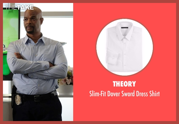 Theory white shirt from Lethal Weapon seen with Roger Murtaugh (Damon Wayans)