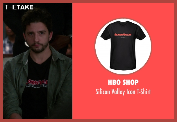 HBO Shop black t-shirt from The Good Wife seen with Roland Hlavin (John Magaro)