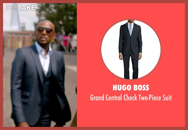 Hugo Boss blue suit from Top Five seen with Romany Malco (Benny Barnes)