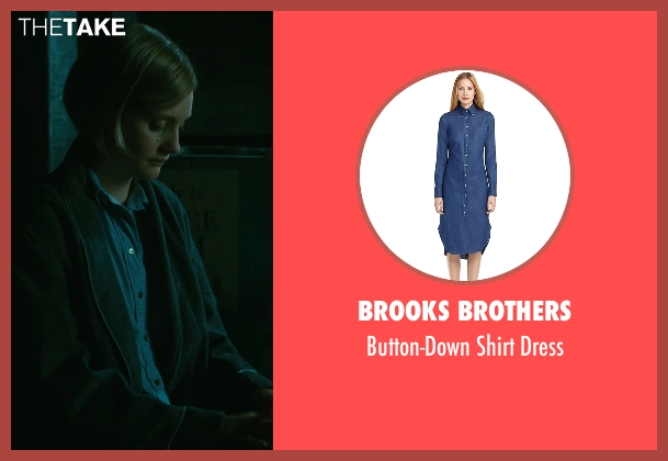 Brooks Brothers blue dress from Atonement seen with Romola Garai (Briony Tallis, 18)