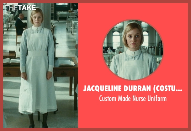 Jacqueline Durran (Costume Designer) uniform from Atonement seen with Romola Garai (Briony Tallis, 18)