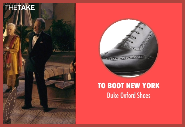 To Boot New York black shoes from The Second Best Exotic Marigold Hotel seen with Ronald Pickup (Norman Cousins)