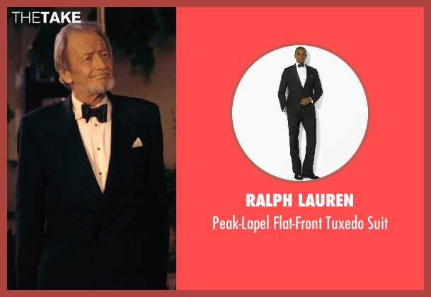 Ralph Lauren black suit from The Second Best Exotic Marigold Hotel seen with Ronald Pickup (Norman Cousins)