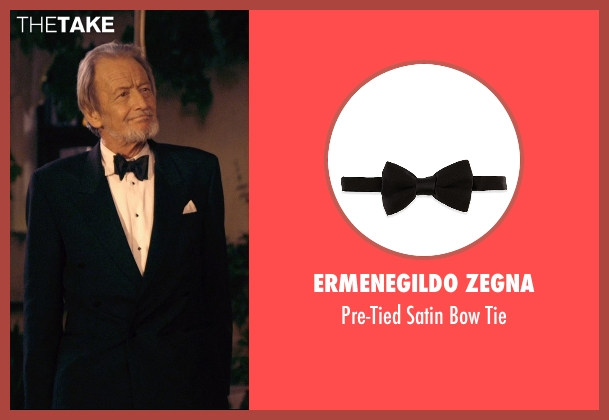 Ermenegildo Zegna black tie from The Second Best Exotic Marigold Hotel seen with Ronald Pickup (Norman Cousins)