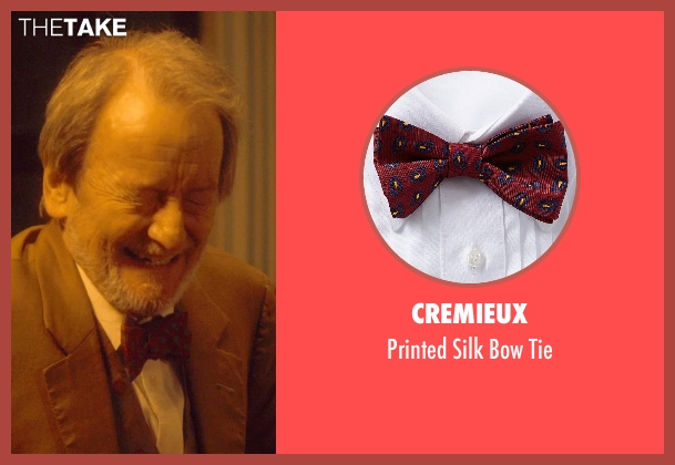 Cremieux red tie from The Second Best Exotic Marigold Hotel seen with Ronald Pickup (Norman Cousins)