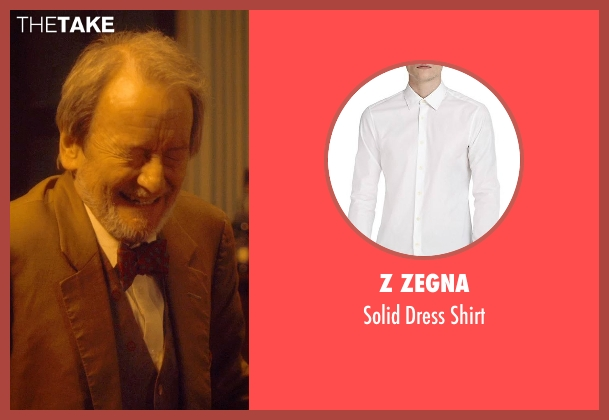 Z Zegna white shirt from The Second Best Exotic Marigold Hotel seen with Ronald Pickup (Norman Cousins)