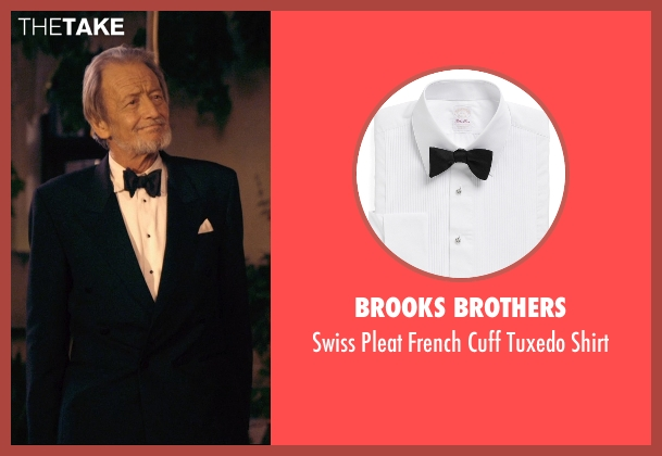 Brooks Brothers white shirt from The Second Best Exotic Marigold Hotel seen with Ronald Pickup (Norman Cousins)