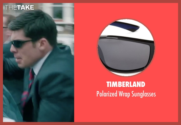 Timberland black sunglasses from Absolutely Anything seen with Ronan Summers (Unknown Character)