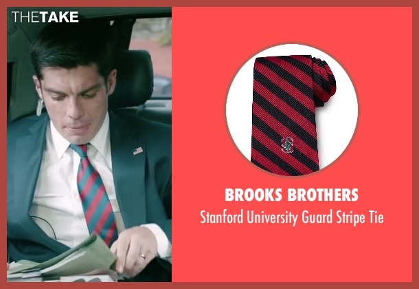 Brooks Brothers red tie from Absolutely Anything seen with Ronan Summers (Unknown Character)