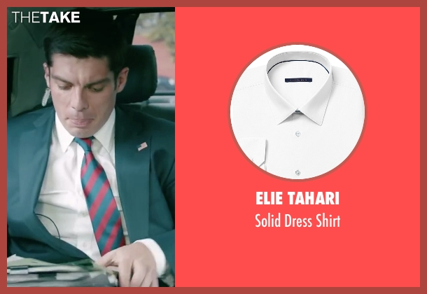Elie Tahari white shirt from Absolutely Anything seen with Ronan Summers (Unknown Character)