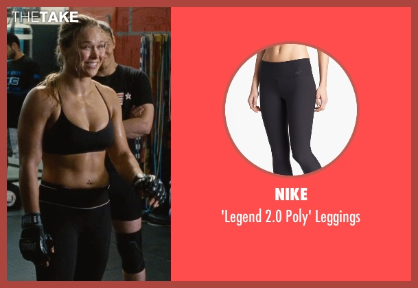 Nike black leggings from Entourage seen with Ronda Rousey