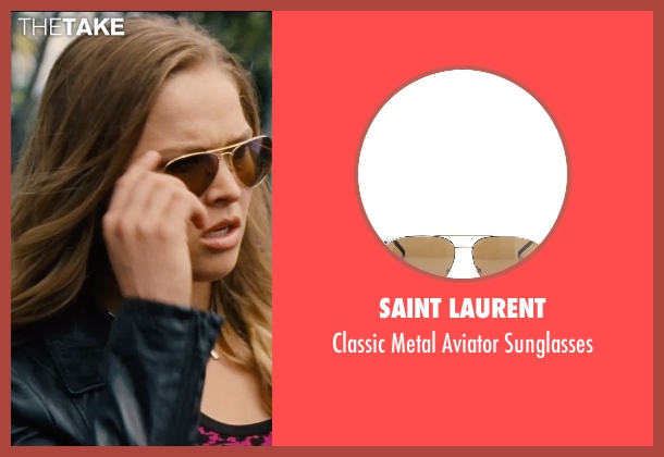 Saint Laurent brown sunglasses from Entourage seen with Ronda Rousey