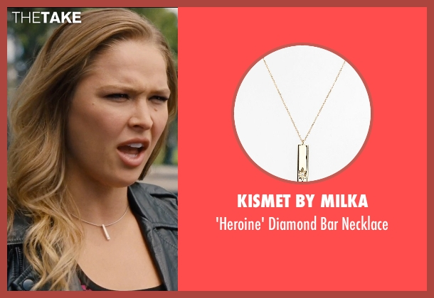 Kismet By Milka gold necklace from Entourage seen with Ronda Rousey