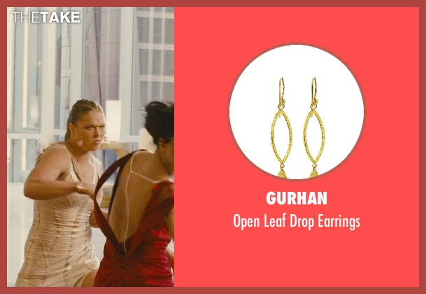 Gurhan gold earrings from Furious 7 seen with Ronda Rousey (Kara)