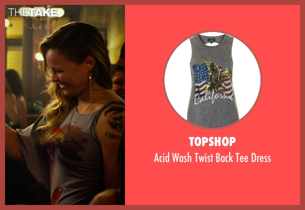 Topshop gray dress from The Expendables 3 seen with Ronda Rousey (Luna)