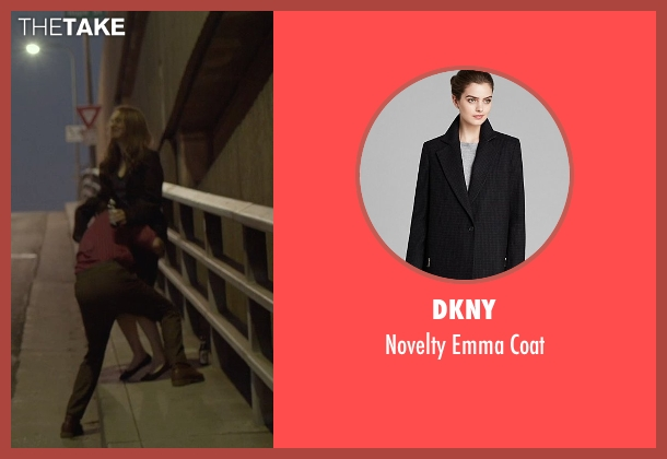 DKNY black coat from Her seen with Rooney Mara (Catherine)
