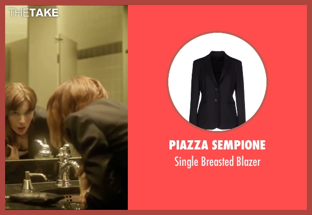 Piazza Sempione black blazer from Side Effects seen with Rooney Mara (Emily Taylor)