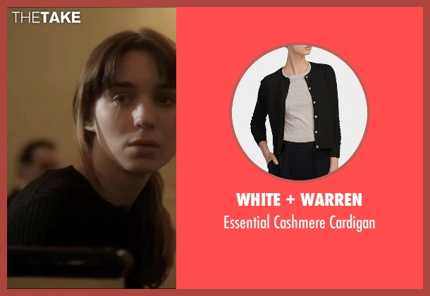 White + Warren black cardigan from Side Effects seen with Rooney Mara (Emily Taylor)