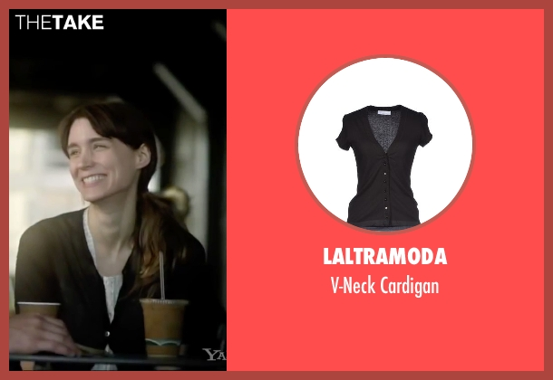 Laltramoda black cardigan from Side Effects seen with Rooney Mara (Emily Taylor)