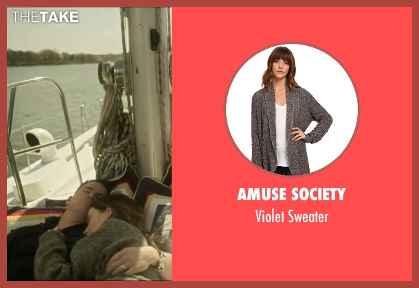 Amuse Society gray sweater from Side Effects seen with Rooney Mara (Emily Taylor)