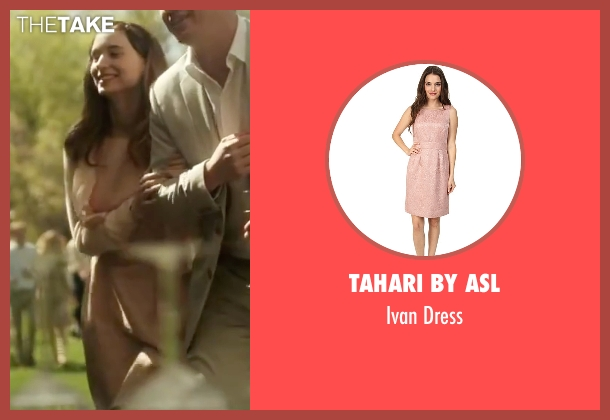 Tahari by ASL pink dress from Side Effects seen with Rooney Mara (Emily Taylor)