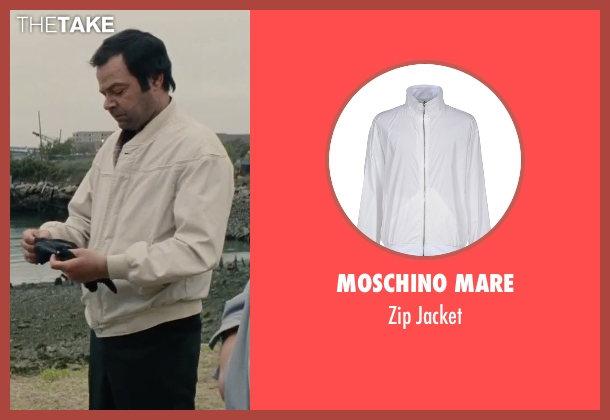 Moschino Mare white jacket from Black Mass seen with Rory Cochrane (Steve Flemmi)