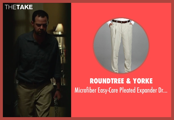 Roundtree & Yorke beige slacks from Oculus seen with Rory Cochrane (Alan Russell)