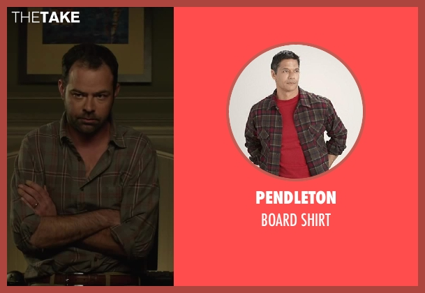 Pendleton red shirt from Oculus seen with Rory Cochrane (Alan Russell)
