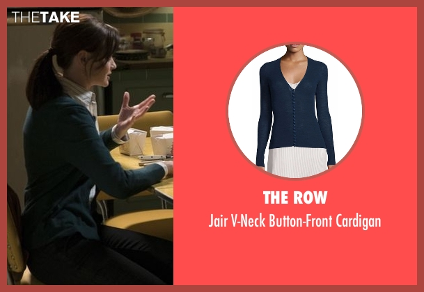 The Row blue cardigan from Gilmore Girls: A Year in the Life seen with Rory Gilmore (Alexis Bledel)