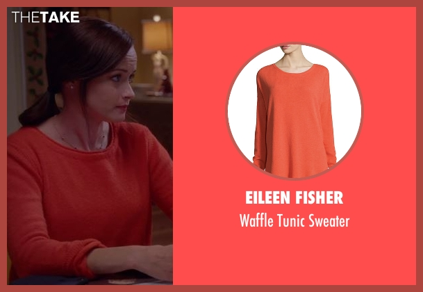 Eileen Fisher orange sweater from Gilmore Girls: A Year in the Life seen with Rory Gilmore (Alexis Bledel)