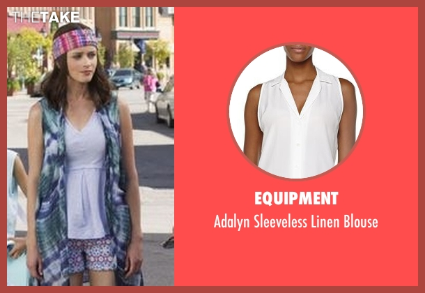 Equipment white blouse from Gilmore Girls: A Year in the Life seen with Rory Gilmore (Alexis Bledel)