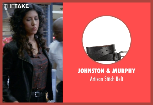 Johnston & Murphy black belt from Brooklyn Nine-Nine seen with Rosa Diaz  (Stephanie Beatriz)